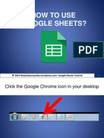 How to Use Google Sheets?