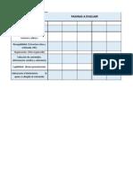 Tabla de Evaluacion de Paginas