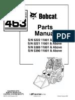 9455470-Bobcat 853 F Parts Manual for Skid Steer Loader