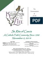 St. Rita Parish Bulletin 11/2/2014