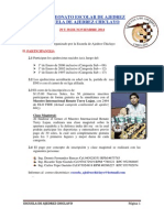 Bases I Torneo Escolar - Escuela de Ajedrez Chiclayo - 29-30 Nov 2014