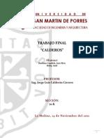 Instrumentacion Industrial - Trabajo Final - Calderos