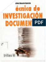 Bosch La Tecnica de Investigacion Documental