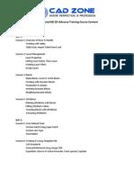 AutoCAD Advance Training-2D Course Content
