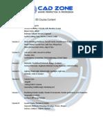 AutoCAD Advance Training-3D Course Content