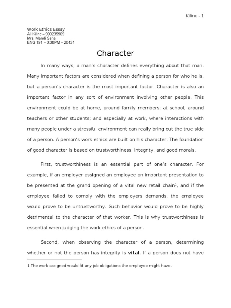 Higher french personal response essay