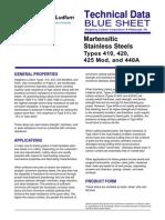 Martensitic Steels Data