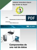 Diapositivas de Componentes Utilizados de Una Red y Su Configuracion de Ip's
