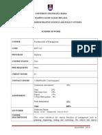 Scheme of Work-MGT162