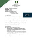 Fundamental of Nursing Syllabus