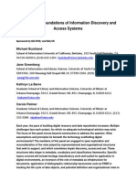Revisiting the FouRevisiting the foundations of information discovery and access systemsndations of Information Discovery and Access Systems