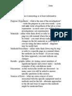 Lab Format