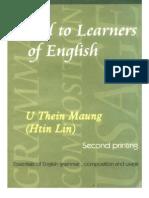ဦးသိန္းေမာင္ - Aid To English Learners