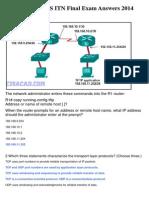 CCNA 1 v5.0 R&S ITN Final Exam Answers 2014