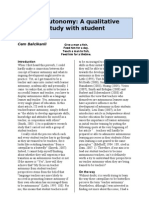 Teacher Autonomy a Qualitative Research Study With Student Teachers