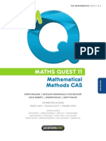 VCE Maths Methods CAS Units 1 & 2 Text Book