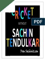 Sachin Tendular - A visual experience.