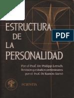 La estructura de la Personalidad. Lersch
