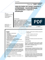 NBR 13533 - Coleta de Dados de Campo Relativos a Confiabilidade Mantenabilidade Disponibilidade e Suporte a Manutencao