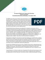 Expert Assessment Presidential Election Romania
