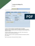 Criação de Infotipo PA