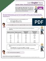 Gs Pronouns and Possessives 1