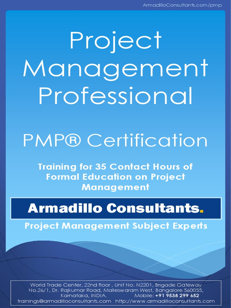 Pmp Brochure By Armadilloconsultants Test Assessment Project