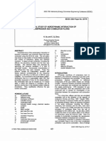 Numerical Study of Aerodynamic Interaction of Compressor and Combustor Flows