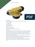 Jual Automatic Level Topcon atB4 (Hub 081389461983)