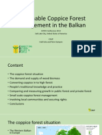 Sustainable Coppice Forest Management in the Balkan