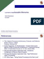 Content Addressable Memory