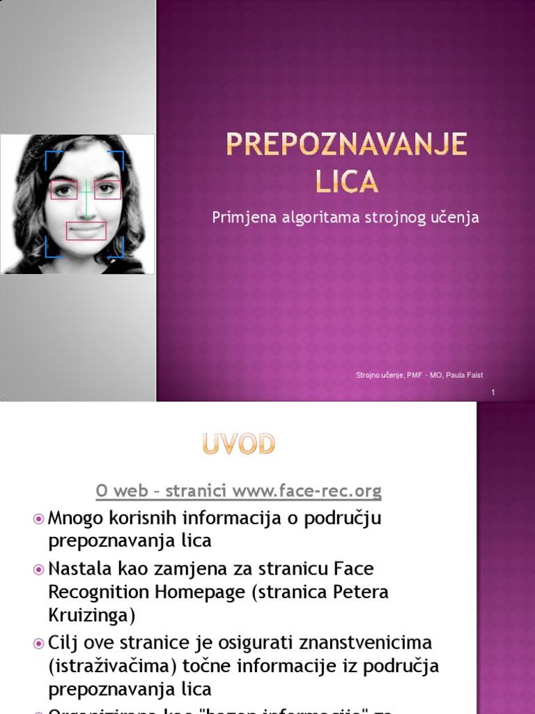 Web stranica za prepoznavanje lica