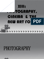 Lesson 13 Photography, Cinema and the New Art Form