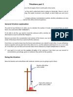 Titrations Part 1 Edexcel