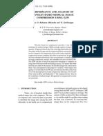 PERFORMANCE AND ANALYSIS OF WAVELET BASED MEDICAL IMAGE COMPRESSION USING EZW