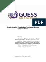 Relatório Final de Verificação Dos Requisitos Computacionais Mínimos DETRAN