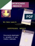 Certificado Médico - Dr. Héctor Lozano Briceño