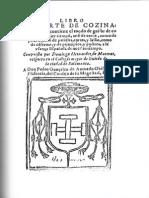 Libro Del Arte de Cozina de Domingo Hernandez de Maceras Del 1607 (Copia Facsimil)