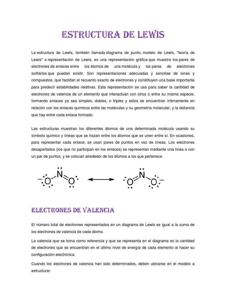 Estructura De Lewis Y Geometría Molecular Enlace Químico