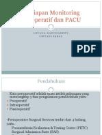 1. Persiapan Monitoring Perioperatif Dan PACU
