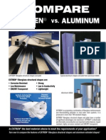 EXTREN vs Aluminum Comparison Flyer