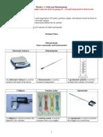1. Measurement and Units