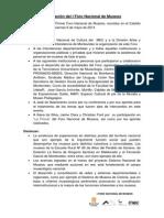 Declaracin Final Del I Foro Nacional de Museos