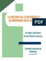 Historia de La Estadística y Enseñanza en Ecuador