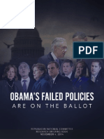 Obama's Failed Policies Are On The Ballot