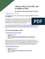 Best Backup Software 2014