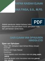 Penerapan kaidah ejaan / EYD