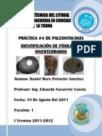 4 Identificación de Fósiles de Invertebrados