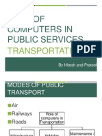 Role of Computers in Transport