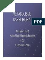 UI Metabolisme Karbohidrat